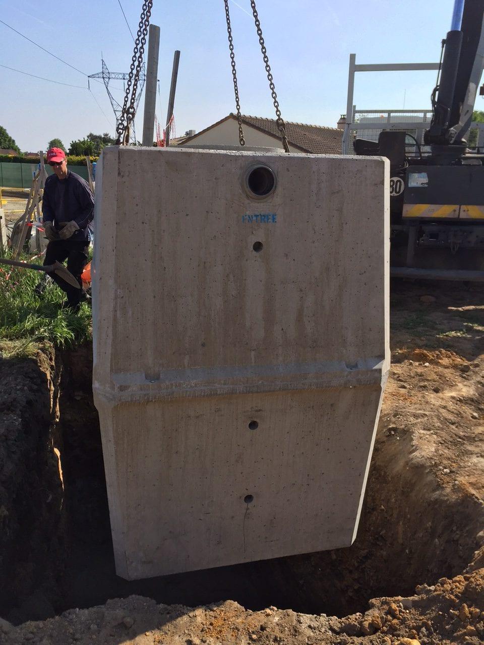 Déchargement cuve béton construction otop atlantique